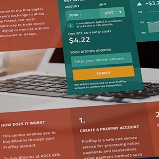 ADCX - African Digital Currency Exchange | Gigodesign